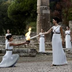 Αρχαία Ολυμπία - Τελετή Αφής της Ολυμπιακής Φλόγας